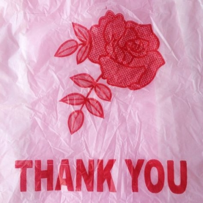 thank you plastic bag
